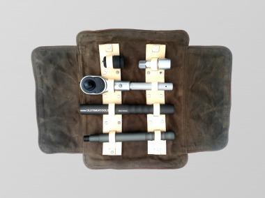"Premium  Ratchet 3/4"" three-parts in handmade leather bag"